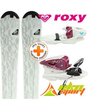 roxy bliss gris blc 09 n9 afc int mini ski mixte. Black Bedroom Furniture Sets. Home Design Ideas