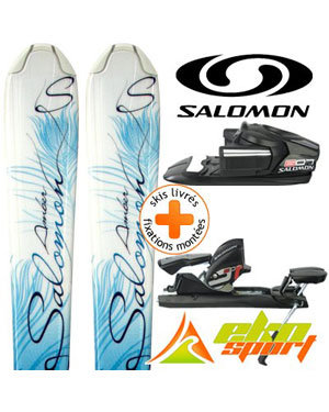 salomon origins amber bleu 09 607 sr mini ski mixte. Black Bedroom Furniture Sets. Home Design Ideas
