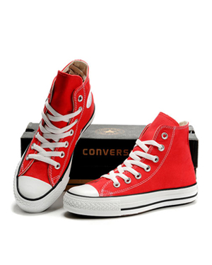 chaussure converse haute rouge